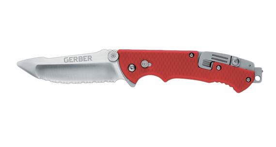 Gerber Hinderer Rescue Serrated Knife RED